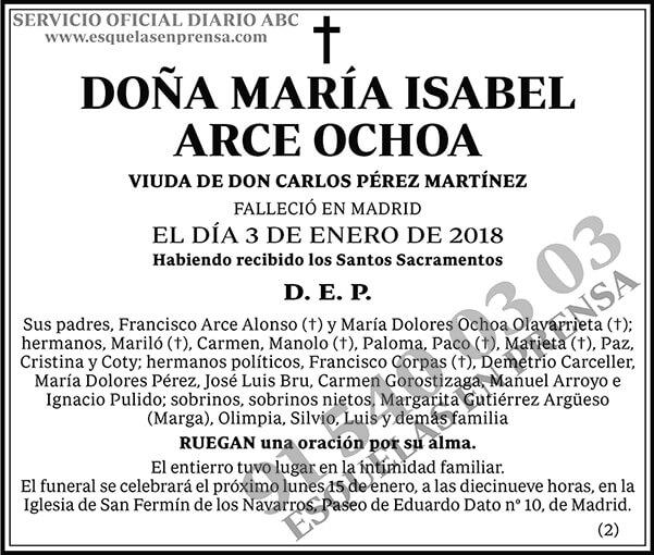 María Isabel Arce Ochoa